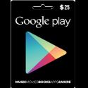 Google Play Gift Card NA 25 USD