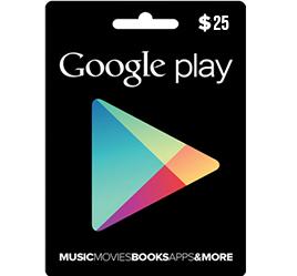 Google Play 25 USD